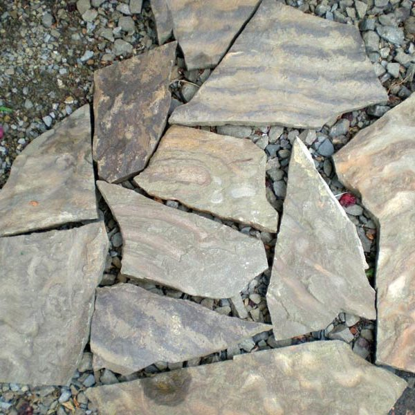 Песчаник «Волна» 20 мм Серо-зеленый