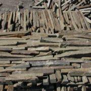 Камень пиленный «Бамбук» 30 мм Серо-зеленый