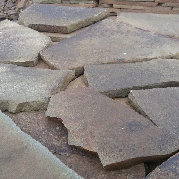 Песчаник плитняк 20 мм Желто-зеленый