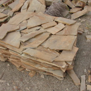 Песчаник плитняк 15 мм Медовый