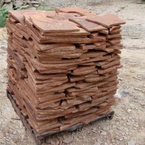 Песчаник плитняк 20 мм Терракотово-красный