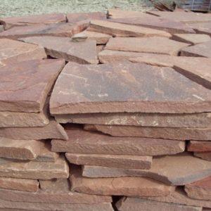 Песчаник плитняк 40 мм Терракотово-красный