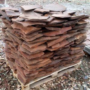 Камень «Фонтанка» Терракотово-красный