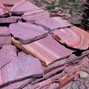 Песчаник плитняк 20 мм Розовый (с разводами)