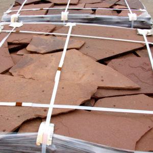 Песчаник плитняк 15 мм Терракотово-красный