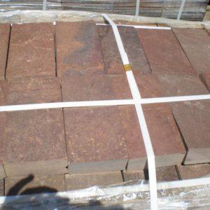 Брусчатка из камня 40 мм 10×20 Терракотово-красная